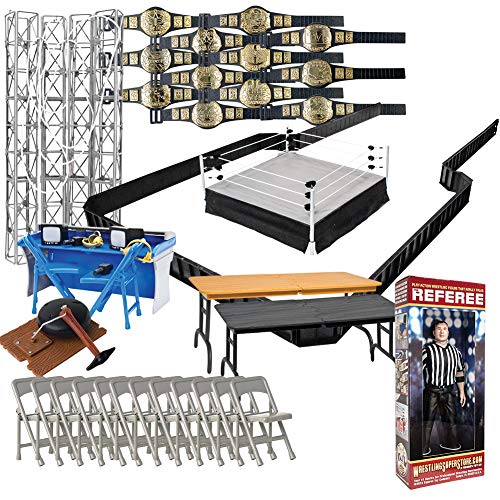 Super Deluxe Wrestling Action Figure Ring & Accessories Special Deal for WWE Wrestling Figures