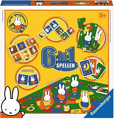 Ravensburger 213573 Spel 6 in 1 Nijntje: O.A. Memory/Domino, 36+ mnd
