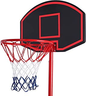 Pannow Portable Adjustable Teenager Basketball Rack, Removable Basketball Stand with Wheels for Kids Teenager Indoor Outdoor Beach Communities Schools