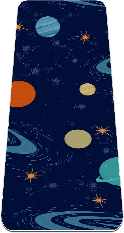 Luxury goods Over item handling Siebzeh Solar System Planets Stars Premium Fr Mat Thick Yoga Eco