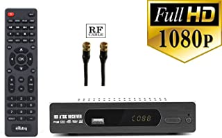 eXuby Digital Converter Box for TV with RF/Coaxial and RCA Cable for Recording and Viewing Full HD Digital Channels Free (Instant or Scheduled Recording, 1080P HDTV, HDMI Output, 7 Day Program Guide)