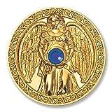 Glücksmünze Engeltaler Schutz, Schutzengel Engel Taler 24kt vergoldet mit Swarovski Elements, Glücksbringer Talisman Schutzsymbol Glückstaler