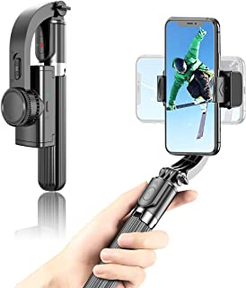 OUTAD Foldable Handheld Phone Gimbal Stabilizer with Extendable Bluetooth Selfie Stick and Tripod, Eliminate Shake to Keep...