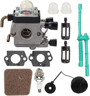 Mckin C1Q-S97 FS55R Carburetor + Gas Fuel Cap + Air Filter Fuel Line Kit for STIHL FS38 FS45 FS46 FS55 KM55 KM55R HL45 FS45C FS46C FS55C FS55RC Trimmer Weed Eater Parts