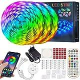 ERAY Tiras LED Bluetooth 15M, Luces LED RGB 5050 450LEDs/ Control Remoto/Aplicación/Función de...