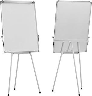 Jago® Chevalet de Conférence - avec Trépied Réglable en Hauteur, 60 x 90 cm, Magnétique, Effaçable, Incluant Marqueurs, Ai...