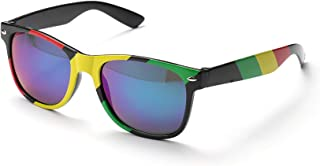 Clear Drifter Style Sunglasses With Rainbow Lens UV400 Protection Unisex (Pack of 3)