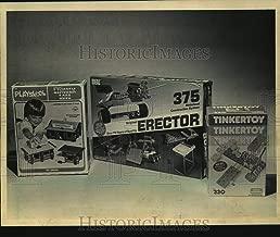 1985 Press Photo Playskool Lincoln Log, Erector sets and Tinker Toys - mjc11966
