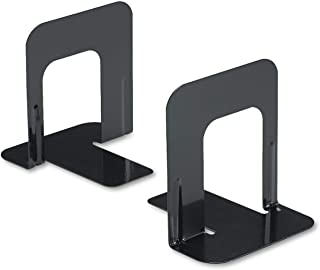 Innovera Nonskid Heavy Gauge Steel Universal Economy Bookends, 4 3/4 x 5 1/4 x 5-Inches, Black, 6 Pair (54055)