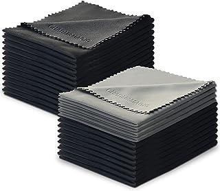 Charm & Magic microvezeldoekjes voor alle soorten schermen - set van 24 onderdelen (20 zwart + 4 grijs)
