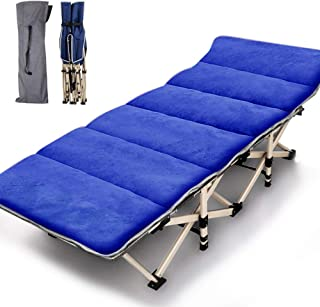 Lilypelle Folding Camping Cot, Double Layer Oxford Strong Heavy Duty Sleeping Cots with Carry Bag, Portable Travel Camp Co...