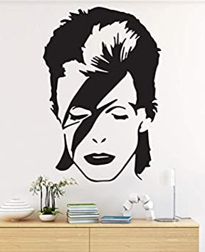 Homedecorstore David Bowie Wall Decal Lightning Bolt Stardust Diamond Dogs Aladdin Sane Wall Art Music Themed Vinyl Sticker English Singer Songwriter And Actor Cg Width Hds3742 Home Kitchen Amazon Com