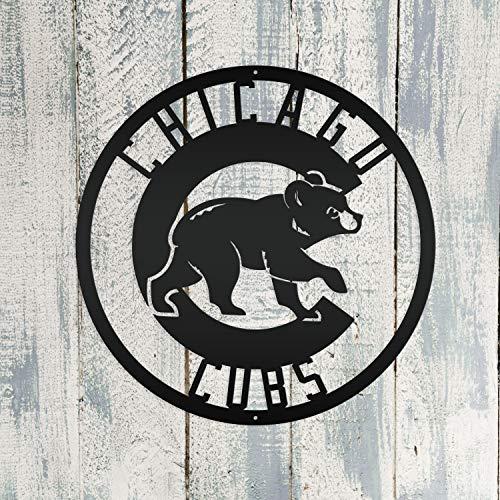 Chicago Cubs Baseball Metal Sign Custom Sign Housewarming Wall Art Decor Ornament