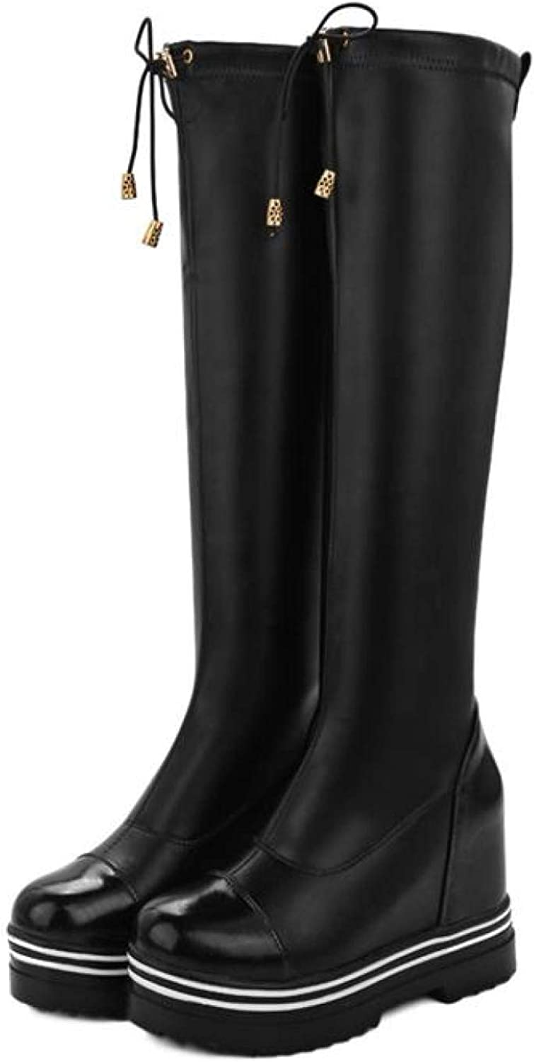 Hoxekle Thigh High Boots for Special price Increasing Fashion Women Pla Animer and price revision Height