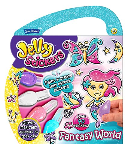 John Adams Blister Fantasy World Jelly Stickers Theme Pack