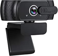 Webcam with Microphone, 1080P HD USB Webcam with Privacy Cover for Desktop PC Laptop, Plug & Play, Streaming Video Web Cam...