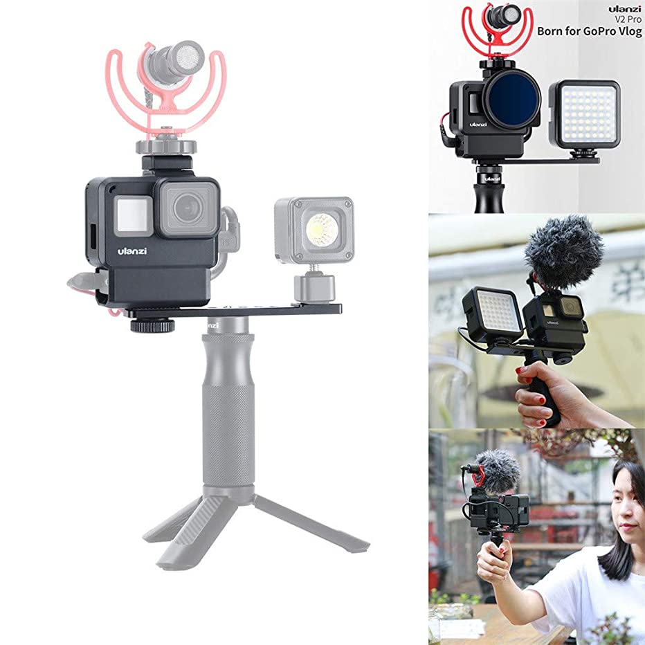 Fine Compatible for Metal Camera Rabbit GoPro Hero 7Black/6/5 Cove Action Camera Housing Case Protective Frame V2 Multifunctional Vlogging Case