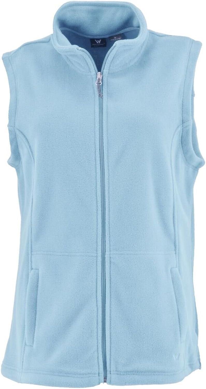 White Sierra Mountain Vest  Extended Sizes, Sky blueee, 1X