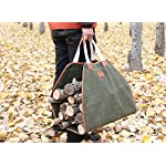INNO STAGE Canvas Log Carrier Bag,Waxed Durable Wood Tote,Fireplace Stove Accessories,Extra Large Firewood Holder with… 7