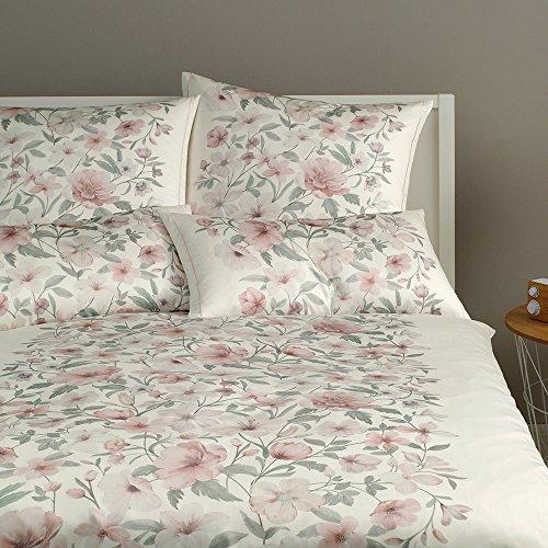 elegante Mako-Satin Bettwäsche Provence Rose Kissenbezug einzeln 40x80 cm