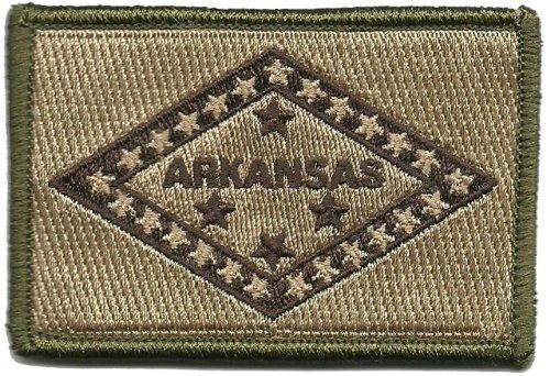 Gadsden and Culpeper Arkansas Tactical Flag Patch (Multitan)