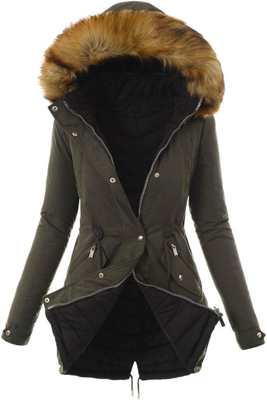 HGWXX7 Womens Outerwear Plus Size Zip Faux J Fur Hooded Cheap Gorgeous bargain Parka Up