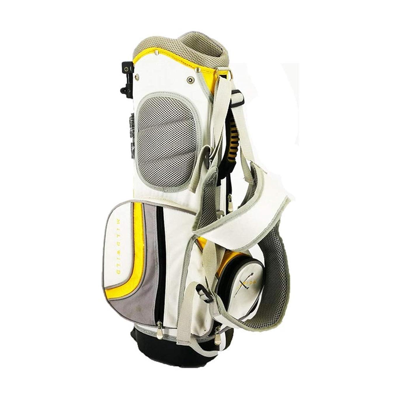 余剰勇者安心させるゴルフバッグ ポリエステル子供用スタンドバッグゴルフバッグゴルフスタンドバッグ防水ゴルフキャリーバッグ大人用ゴルフアクセサリースポーツ乗馬ハイブリッドウォーキングゴルフバッグ ベビーカー用ゴルフバッグ (色 : 黄, サイズ : ワンサイズ)