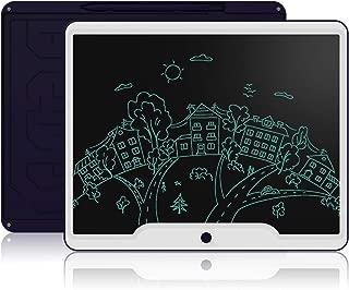 見やすい電子メモパッド 15インチ 大画面モデル LCDタブレット ワンタッチ消去 手書きパッド 電池交換可能 デジタルペーパー 消去ロック機能搭載 難聴補佐 筆談ツール お子様のお絵かき ペン付き