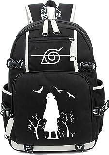 حقيبة ظهر أنيمي تأثيري شارينجان حقيبة كتف مدرسية للطلاب حقيبة سفر Teentage (اللون: عاجي)