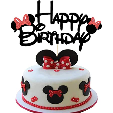 Amazon Com Decopac Cake Decorating Minnie Creations Cake Topper For Birthdays And Parties Kitchen Dining