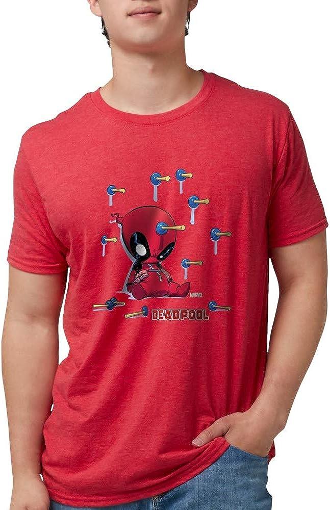 4 years warranty CafePress Deadpool Nippon regular agency Toy Darts Mens Tri-Ble Blend T Tri Shirt