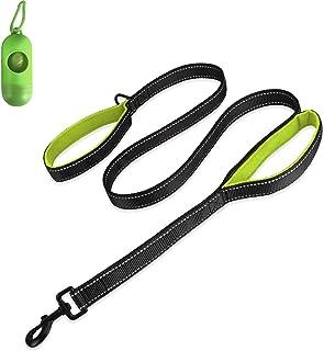 Belababy Medium Dog Leash, 5ft Double Handles Dog Lead, Heavy Duty Strong Nylon Reflective Dog Leash, 1.5m Leash Perfect for Large Medium or Small Dog