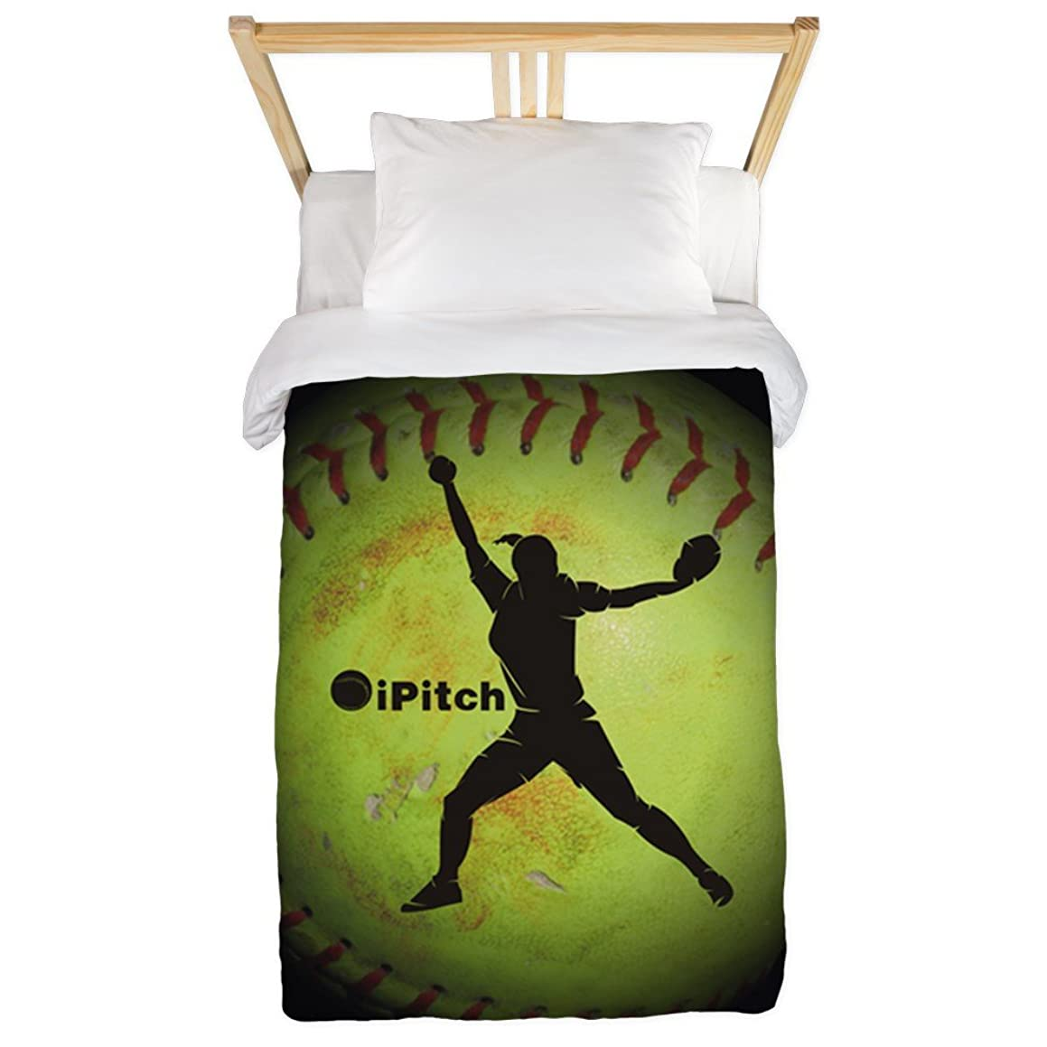 CafePress - Ipitch Fastpitch Softball (Right Handed) Twin Duve - Twin Duvet Cover, Printed Comforter Cover, Unique Bedding, Microfiber