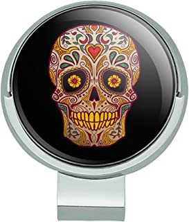 GRAPHICS & MORE Skull Day of The Dead Southwestern Golf Hat Clip with Magnetic Ball Marker