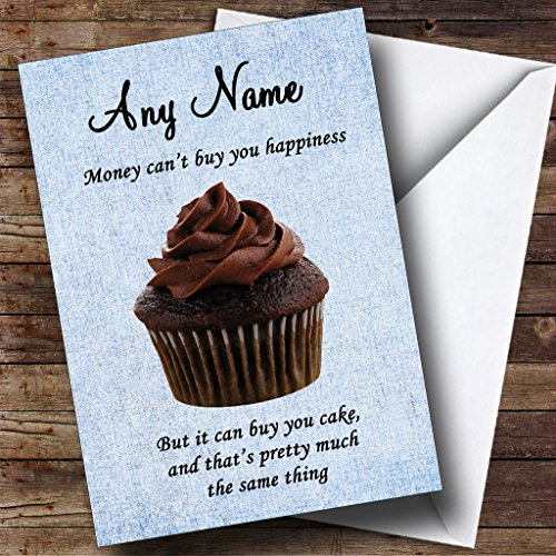 Grappig geld Cant kopen Geluk Cake Gepersonaliseerde Verjaardagskaart