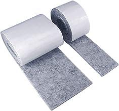 Meubels viltpad viltstrip 2 rollen 100cm zelfklevende DIY viltvloerbescherming in elke vorm gesneden (grijs)