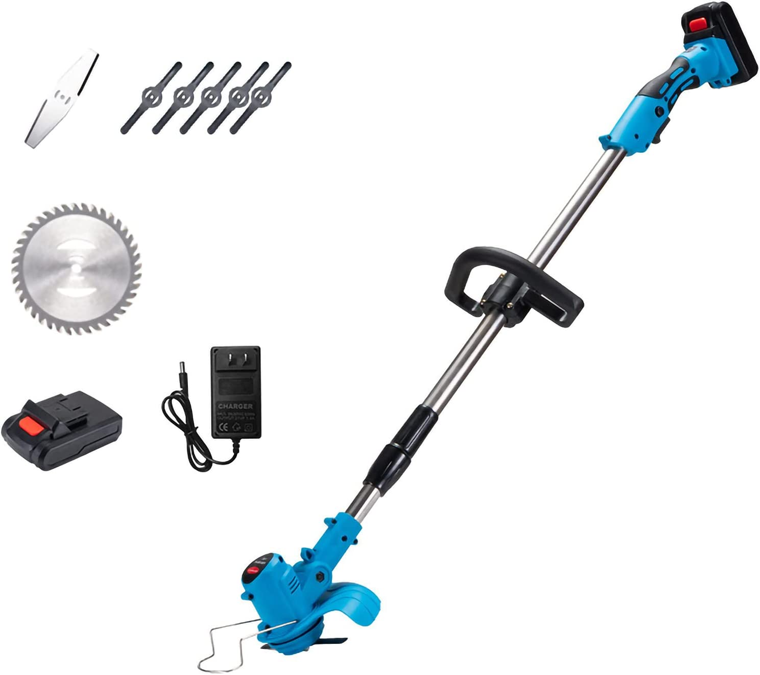 KHLRDK Max 73% OFF 21V Telescopic Electric Grass Trimmer Cordless Str Small excellence