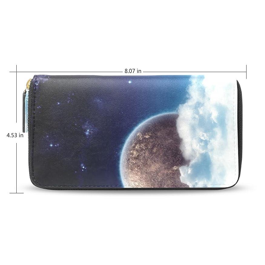 降ろす与える革命的Womens Star Sky Galaxyレザーロングウォレット&財布ケースカードホルダー31