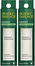 Desert Essence Herbal Blemish Touch Stick with Natural Extracts & Essential Oils - .31 Fl Ounce - Pack of 2 - Antiseptic Tea Tree Oil - Chamomile - Lavender - Palmarosa - Clear & Radiant Skin