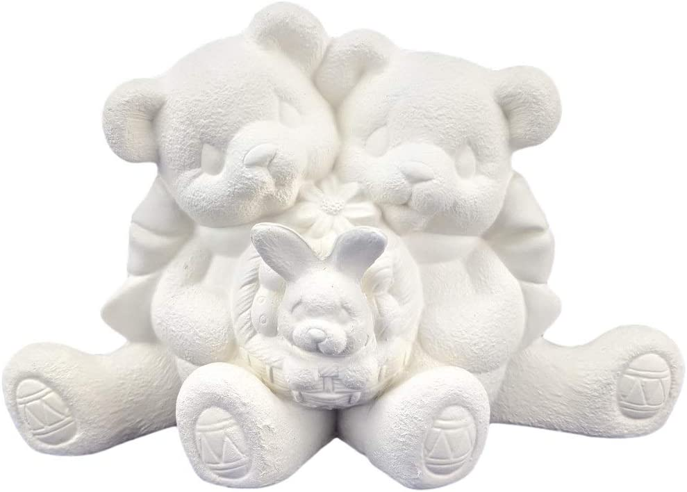 Cuddle Bears with Easter Bunny Max 60% OFF New products, world's highest quality popular! in Paint Ready Basket to Ceramic