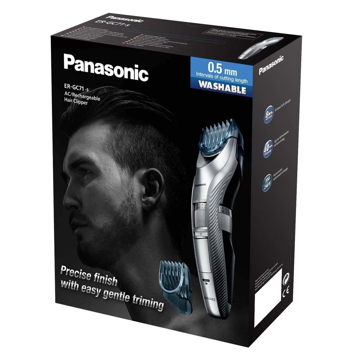Panasonic Tondeuse à Barbe / Cheveux ER-GC71 avec 39 Réglages de Longueur (Homme)