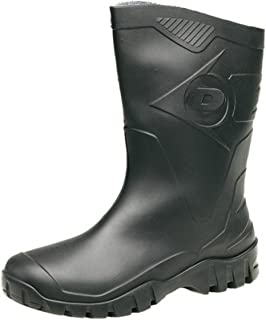 Mens Dunlop Short Half Length Ankle Wellington Wellies Boots WIDE CALF UK 6 - 12 GREEN
