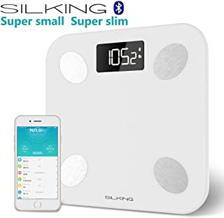 SILKING Bluetooth Body Fat Scale Digital Weight Bathroom Monitors Up to 400 LB, with IOS & Android APP Smart Composition Measure for Body Weight, Age,Muscle Mass, BMI, BMR, Bone Mass, Visceral Fat