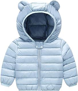 cc1850bd25a Evelin LEE Unisex Baby Zipper Hooded Coat Winter Down Jacket Cotton Cute  Snowsuit