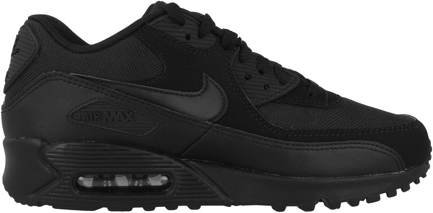 Nike Air Max 90 Essential, Baskets Basses Homme, Noir (Black ...