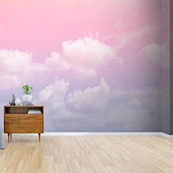 Amazon Com Kanworse Rainbow Clouds Blue Purple Skys And Pictures Canvas Print Wallpaper Wall Mural Self Adhesive Peel Stick Wallpaper Home Craft Wall Decal Wall Poster Sticker For Living Room Kitchen