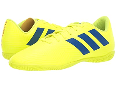 adidas Kids Nemeziz 18.4 IN Soccer (Little Kid/Big Kid) (Solar Yellow/Blue/Active Red) Kids Shoes