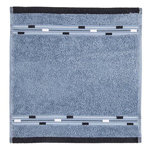 Frottana Magic Essuie-Main 30 x 30 cm en 100% Coton, Bluestone
