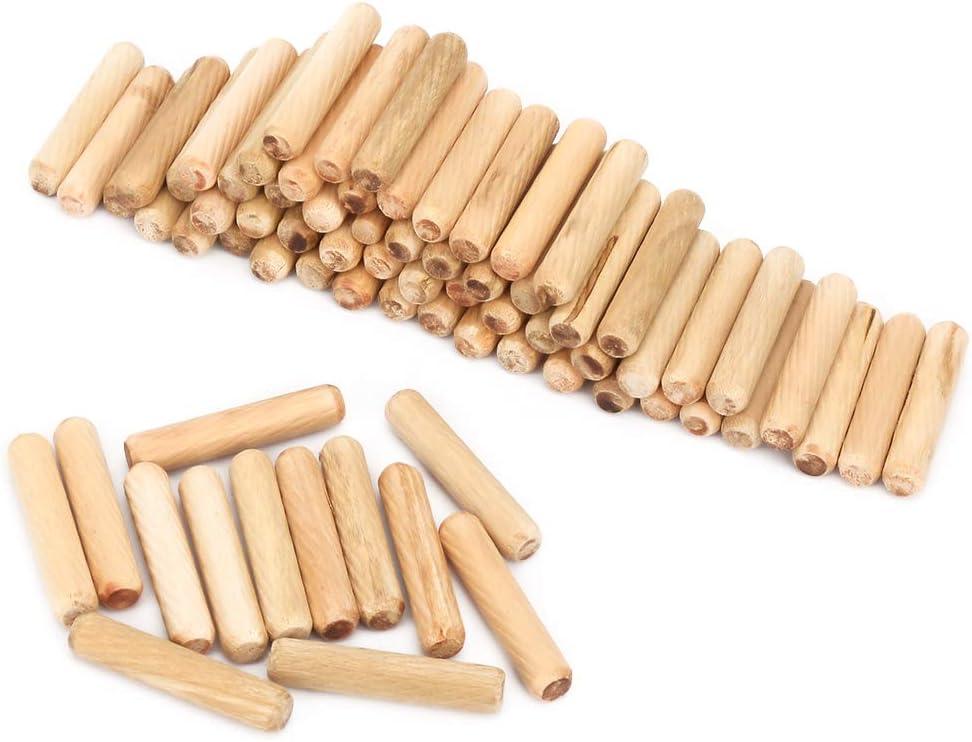 M6 M8 M10 artisanat goujon tiges /à bois rond cannel/é bois goujon de h/être broches avec extr/émit/és chanfrein/ées pour la construction de joints en bois forts 100pcs bois goujon 8 * 40mm