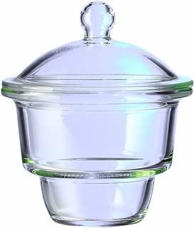 Corning Pyrex Borosilicate Glass Small Knob Complete Top Desiccator, 2.4L Capacity